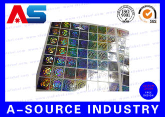 Anti Fake Hologram Security Stickers , Printing 3d Hologram Security Labels Tamper Proof