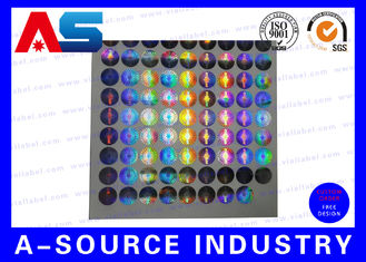 Cina Silver Security Custom Holographic Stickers Label Tamper Proof Seal Custom Design pemasok