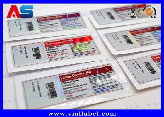 Anti Fake Laser Holographic 10ml Vial Labels For Steroid Pharmacy Medication Bottles