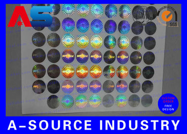 Cina 2cm Diameter Custom Holographic Stickers Anti - Counterfeiting PET Material Distributor