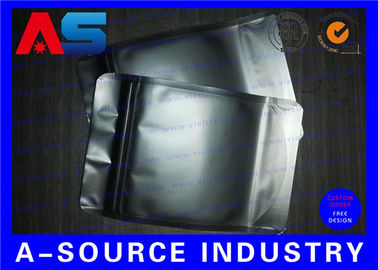 Cina Matt Black Heat Seal Aluminum Foil Bags With Zip Lock / Mylar Sleeves Distributor